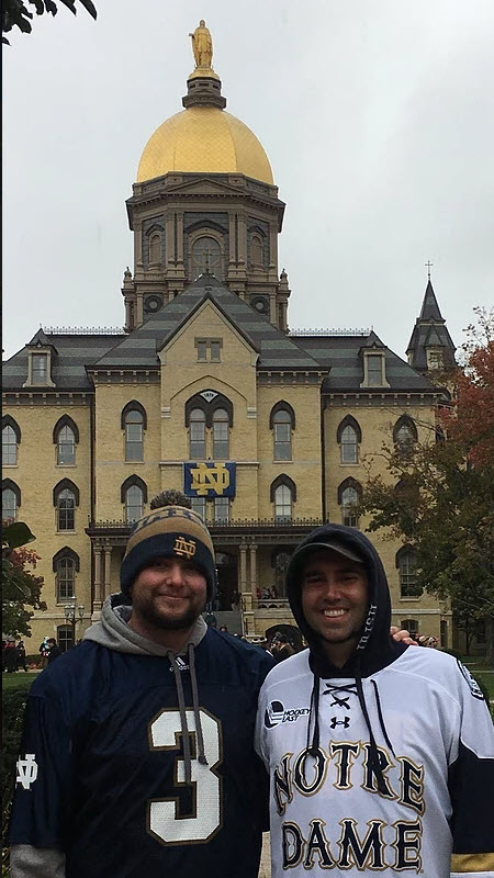 Kyle at Notre Dame | Future Insurance Agency